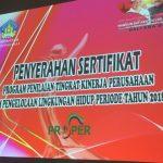 Penyerahan Sertifikat Peserta Proper Periode 2018 – 2019